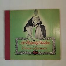 1944 Decca Records Mr Pickwick's Christmas Charles Dickens Album Chas Laughton
