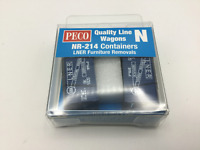 Peco NR-214 N Gauge LNER Furniture Containers (Pair) for Wagons