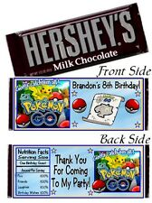 12 Pokemon Go Birthday Party or Baby Shower Candy Hershey Bar Wrappers