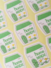 72pc Homemade Seal Sticker Lable Tag in Green Type  Scrapbooking Gift Packaging
