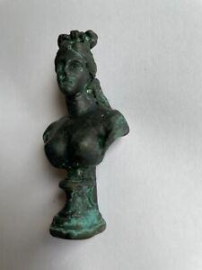 Roman Bronze Bust Goddess Good Condition 100AD