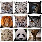 Home Decor Animals Linen Pillowcase Bedding Sofa Throw Cushion Pillow Cover