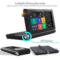 NEW GPS Recorder G-sensor Foldable 7'' 1080P Wifi Android Car Truck DVR Dash Cam