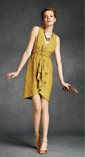 BHLDN Anthropologie Quillaree Silk Yellow Tethered Dots Dress NWOT Size 10 $300