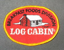 "LOG CABIN BREAKFAST FOOD SYRUP EMBROIDERED SEW ON ONLY PATCH UNIFORM 4"" x 3"""