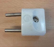 Vintage White 2 Pin Plug Travel Adaptor, 125v 6A, 240v 3A, USA Canada to Europe?