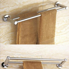 Stainless Steel Bath Double Towel Rails Wall Mounted Towel Rack Hanger 15 Inches