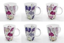 Roy Kirkham Sweet Pea Mugs Set of 6 Pink Purple Lilac Ruby Flower Bone China