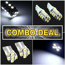 4pcs White Led Lights Backup T10 + License Plate T10 #B16