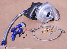 T3/T4 T04E HYBIRD STAGE3 TURBO FIREBIRD TRANS AM SUNFIRE 2.2L + FEED&RETURN LINE