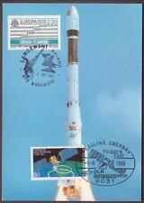 "Space Maxi Card 1989. Germany Satellite ""TV Sat 2"" Launch by ""Ariane 4"" ##2"