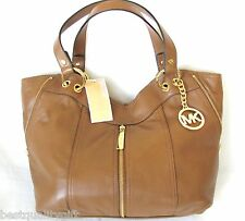 NEW-MICHAEL KORS MD MOXLEY LUGGAGE BROWN LEATHER TOTE,PURSE,SHOULDER+HAND BAG