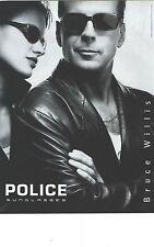 PUBLICITE ADVERTISING  1999 POLICE lunettes sunglasses par BRUCE WILLIS   040912