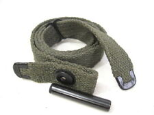 WWII US GI M1 Carbine C-Tip OD Canvas Sling w/Oiler - NEW Reproduction
