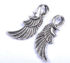 free shipping 10PCS tibetan silver angel wings charm pendant JK0453