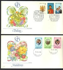 UK GB BRITISH COMM 1970-80s COLLECTION OF ROYALTY FDCs ALL DIFFERENT COUNTRIES