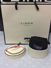 LINKS OF LONDON EFFERVESCENCE XS CORAL SILVER BRACELET WITH BOX GIFT BAG POUCH