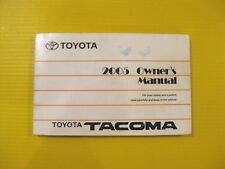 Tacoma 05 2005 Toyota Owners Owner's Manual Factory OEM