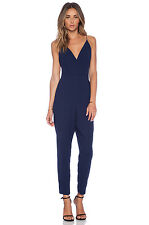 FINDERS KEEPERS All Time High Peacoat Cut Out Back Jumpsuit Size M NWT $157