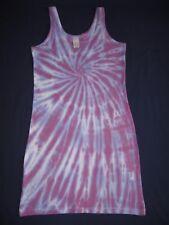 Tie Dye Ladies Skinnifit Long Stretch Vest/Dress UK size S 8-10