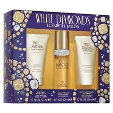 Elizabeth Taylor WHITE DIAMONDS 3PC Toilette - Body Lotion - Body Wash Gift Set