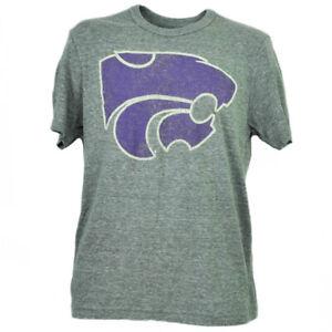 NCAA Kansas State Wildcats Feutre T - Shirt T-Shirt Hommes Manches Courtes Gris