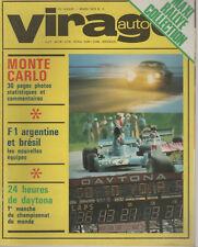 VIRAGE AUTO 1973 3 RALLYE MONTE CARLO GP ARGENTINE BRESIL JAGUAR XJ12 MAZDA RX-2