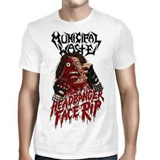 Authentic MUNICIPAL WASTE Headbanger Face Rip T-Shirt White S-2XL NEW