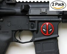 Tactical Freedom Metal Decal, Sticker, Deadpool for Magwell (2 Pack)