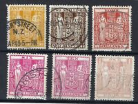New Zealand Revenue : Stamp Duty 1/- 2/6d 4/- 6/- 10/- & ONE POUND SEE SCANS.