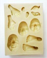 Sculpey Flexible Push Mold Faces Hands Feet Ears