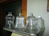 Lot of 4 Different Vintage Home Interiors Clear Glass Votive Cups