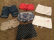 Lot of 11 girls/juniors size 1-2 Clothes -shorts, skirts, and tanks