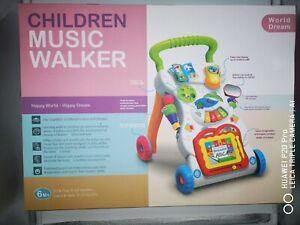 Trotteur musical pour bébé, Cadeau bébé trotteur parlant