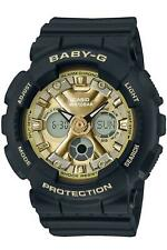 NEW BABY-G BA130-1A3 ANA-DIGI COLOR EDITION 3D BLACK/ GOLD WATCH