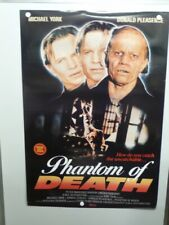 THE PHANTOM OF DEATH Michael York DONALD PLEASENCE Home Video Poster 1988