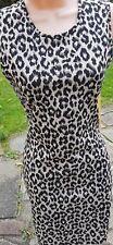 XMAS Party Clubbing Dress Sexy Stretch Animal Print Chic Wiggle 6 8