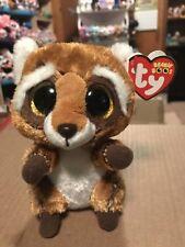 """Ty RUSTY -Reddish Brown/White Red Panda 6"""" Beanie Boo! *NEW*"""