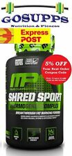 MusclePharm Shred Sport 60 Caps Thermogenic Fat Burner Matrix JYM MP