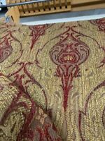 "Chenille Jacquard Damask Railroaded Upholstery Fabric Valdese Weavers 54"" Bty"