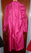 womans shiny pink rubber backed raincoat mackintosh TV rustles noisy 42