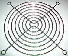Rejilla metálica para ventilador de 12 cm plateada