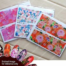 Traditional Japanese pattern Nail decorative Sticker Seal Wrap 8 small sheets