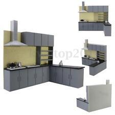 Miniature Kitchen Cabinet Set Model Kit Furniture for Art Dollhouse 1:25 Scale