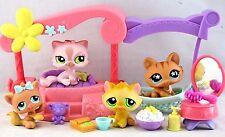 Littlest Pet Shop PINK CAT #1083 ORANGE #94 #649 KITTEN #1135 Daybed ~ GIFT BAG!