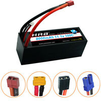 HRB 3S 11.1V 8000mAh 100C 200C 3S2P Hard Case LiPo Battery for Car Truck Drone