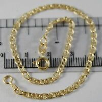 18K YELLOW GOLD BRACELET LITTLE NAVY SATIN BUBBLE LINK 2.5 MM, MADE IN ITALY