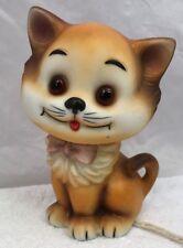 Vintage Lefton Kitten Cat Table Night Light 6624
