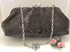 """Brighton """"FIRST KISS"""" Brown Patent Leather Clutch w/Strap (MSR$110) NWT"""