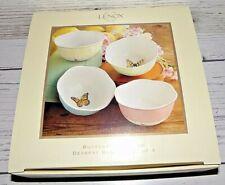 New Lenox Butterfly Meadow Basket Set of 4 Dessert Bowls